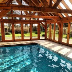 Small Indoor Pool, Outdoor Pool, Natural Swimming Pools, Indoor Swimming Pools, Backyard Pool Designs, Swimming Pool Designs, Pool House Plans, Dream Pools, Home And Deco
