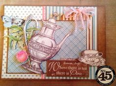 7 Steps to a Fun Spring Card tutorial from Clare Charvill using Botanical Tea #graphic45 #cards
