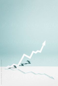 a zig-zag paper arrow cut from paper heads in an upwards direction Zig Zag, Wind Turbine, Photography Ideas, Arrow, The Unit, Stock Photos, Paper, Awesome, Photoshoot Ideas