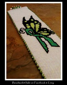 Green Ribbon Kidney Disease Awareness Butterfly by Beadwork4Sale