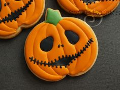 Halloween pumpkin cookies / galletas de calabazas para halloween
