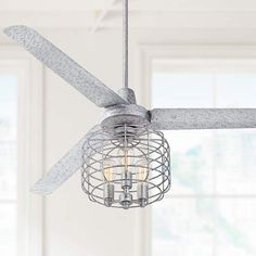 "60"" Turbina Galvanized Industrial Cage Ceiling Fan - #7D011-7H383 