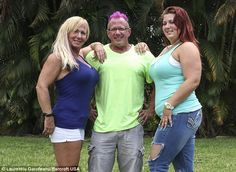 Spreading the word: Cristy and Dean Parave, pictured with daughter Britney (right), are fans of swinging
