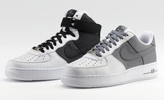 Nike Air Force 1 iD Option Clear Patent Sneakers Madame