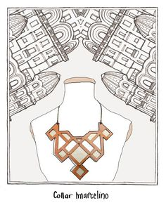Marcelino Necklace - Salvo Collection - by Laurel - www.laurel.com.uy - Etsy: uylaurel