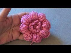 Цветочек из пышных столбиков с закрепом | Все о рукоделии: схемы, мастер классы, идеи на сайте labhousehold.com