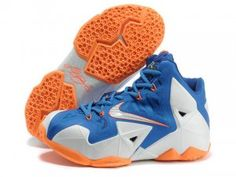 Nike LeBron 11 White Blue Orange Shoes are cheap sale on our store. Shop the cool colorway lebron 11 shoes now! Off 30%-70%.