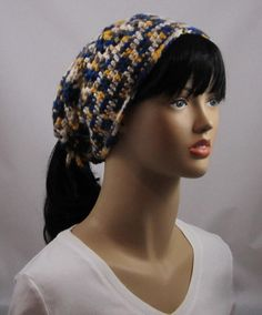 Crocheted ponytail hat FREE SHIPPING by WearablesByAC on Etsy, $28.00