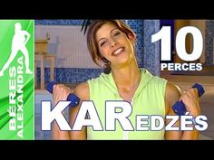 Béres Alexandra torna || Hasizom gyakorlatok || 10 perc - YouTube Yoga Training, High Intensity Cardio, Wellness Fitness, Tai Chi, Zumba, Excercise, Pilates, Kettlebell, Gym