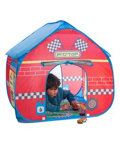 Another great find on #zulily! Pop-Up Pit Stop Tent & Race Mat #zulilyfinds