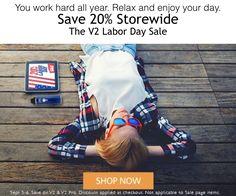 You work hard all year. Relax and enjoy your day. Save 20% Storewide http://www.v2profit.com/1764.html The V2 Labor Day Sale #SinHumo #vaporizador #Vapor #DejarDeFumar #Vaporizador #Vapeador #Vapemodels #eliquids #vaping #vapelyfe #vapemods #mods #vapecommunity #coils #eliquid #ecig #vapefam #Vapeporn #vapeoftheday #vapedaily #vapepics #CoilPorn #vaping #VapeClouds #CloudChaser #VapeLife #VapeDeals #VapeSale #eliquid #ejuice