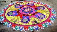 Latest Beautiful Diwali Special Rangoli Collection - Live Enhanced Explore the Latest Beautiful Special Rangoli Collection at Live Enhanced.visit for more ideas and decoration tips specially for Diwali Festival. Easy Diwali Rangoli, Diya Rangoli, Rangoli Designs Diwali, Rangoli Designs Images, Flower Rangoli, Simple Rangoli, Indian Rangoli, Mehndi Designs, Traditional Rangoli Design