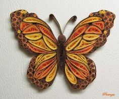 Quilled butterfly by pinterzsu