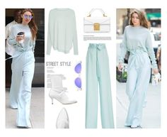 """Fresh...All Mint.."" by unamiradaatuarmario ❤ liked on Polyvore featuring Sally Lapointe, Stuart Weitzman, StreetStyle, pastels, StreetChic and gigihadid"