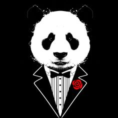 Tuxedo Panda is a T Shirt designed by clingcling to illustrate your life and is available at Design By Humans