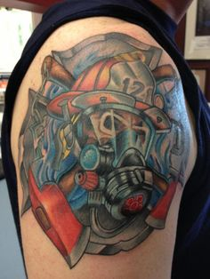 Firefighter Skully & Gear (shoulder)  | Shared by LION