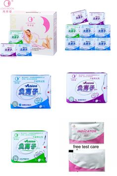 [Visit to Buy] 19pack /lot Anion Love Moon Jewelry Sets Winalite Lovemoon Anion Sanitary Pads Female Hygiene Sanitary Napkin Panty Liner #Advertisement