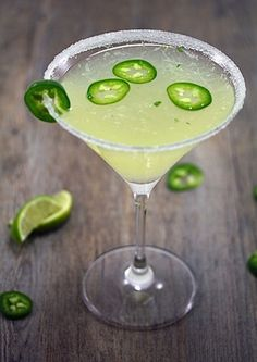 Jalapeno Parsley Sour Martini - spicy!