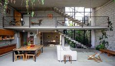 Maracaná House, pura geometría en hormigón