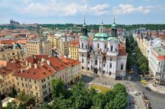 Nicholas Church view from Astronomical Clock Tower Prague Travel Guide, Prague Old Town, Visit Prague, Central And Eastern Europe, Old Town Square, John The Baptist, Most Beautiful Cities, Travel Advice, Travel Inspiration