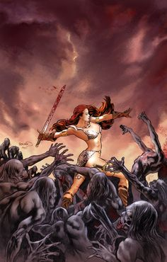 Red Sonja: Vacant Shell #1 - Art, colors by Paul Renaud and Chris Chuckry / Cover by Michael Wm Kaluta