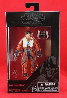 "Poe Dameron X-Wing Pilot Star Wars Black Series Exclusive 3.75"" Action Figure  #Hasbro"