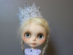 Blythe Silver Lace Crown by moma10 on Etsy