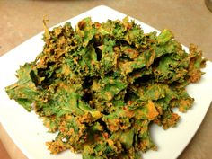 Kale Chips (that taste like Dorritos! Can't wait to try!)