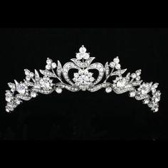 Bridal Floral Rhinestone Crystal Prom Wedding Crown Tiara 8905 | eBay