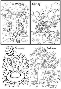Seasons of the year - Hora de Colorir