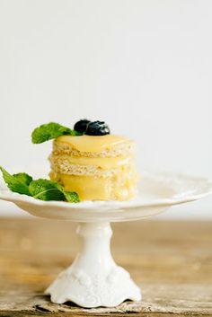 Gluten-free lemon drop cake.