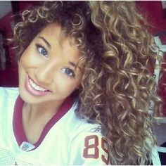Ombre to this hue maybe. Start off with a soft brown...