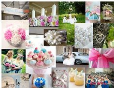 Blues & Pinks Moodboard- sign up and make yours at hitched.co.uk for FREE.