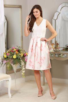 peach flared skirt