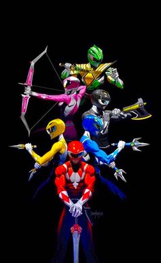 Migthy Morphin Power Rangers Power Rangers Cartoon, Power Rangers Movie, Power Rangers Poster, Power Rangers 2017, Go Go Power Rangers, Reboot Cartoon, Cartoon Cartoon, Original Power Rangers, Power Rangers Megazord