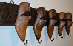 Antique Vintage Salvaged Wooden Shoe Mold by sophisticatedswine