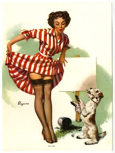 Gil Elvgren Gallery, Art, Prints, Gil Elvgren American Pin-Up Artist Gallery, real neat Pin Up Vintage, Retro Pin Up, Estilo Pin Up Retro, Vintage Art, Pinup Art, Gil Elvgren, Pin Up Illustration, Illustrations, Pin Up Girls