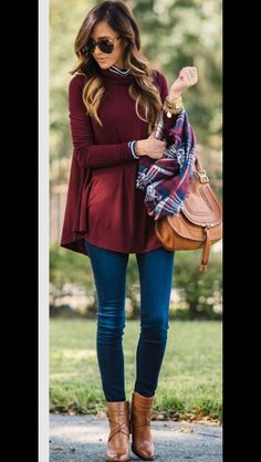 """Stitch Fix Fashion - Now you can have your own personal stylist. Stitch Fix is the first fashion retailer to deliver a shopping experience that is truly personalized for you. Fill out the Stitch Fix Style Profile and our personal stylists will handpick a """"Fix"""" of five clothing items and accessories unique to your taste, budget and lifestyle. Simply buy what you like and return the rest. fall fashion, burgundy skinnies, booties and plaid. #StitchFix #Sponsored"""