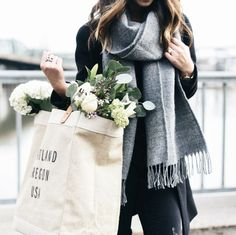 it, a shopping discovery app that allows you to instantly shop your favorite influencer pics across social media and the mobile web. Moving To Portland, Plum Pretty Sugar, Grey Scarf, Dress To Impress, Autumn Fashion, Style Inspiration, My Style, Simple Style, Womens Fashion