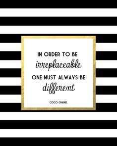 Coco Gold Fashion Quote Art Print