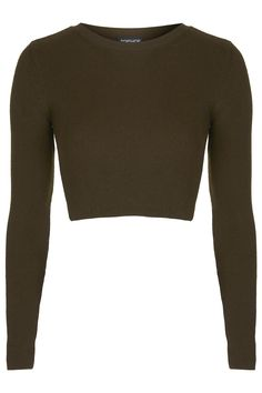 Ribbed Crew Neck Crop Top