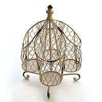 SILVERWARE CADDY - DISTRESSED IVORY