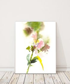 Abstract Watercolor Fine Art Print, Pink Alstroemeria Flowers Watercolor Painting Art Print Fine Art Print from Watercolor Painting Floral Watercolour Wall Art Professional quality art print on heavy weight 300 gsm paper direct from the artist. Print sizes: 8x10 (8.5x10.5) 9x12