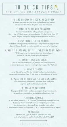 How to write the perfect wedding toast