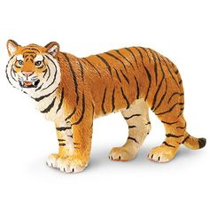 This is a Bengal Tiger animal figure. Specifically, it's a Bengal Tigress animal figure produced by Safari. Hand painted and well detailed, the Bengal Tigress is amazing. Safari is well known for maki