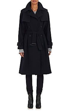 6a5e9a899599 Double-Breasted Wool-Blend Trench Coat