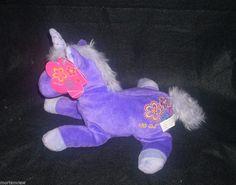 "NEW FAO GIRL 10"" PURPLE PRINCESS UNICORN HORSE EMBROIDERED STUFFED TOY #FAOSchwarz"