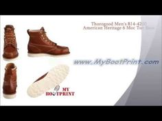 Thorogood Men's 814 4200 American Heritage 6 Moc Toe Boot - YouTube Most Comfortable Work Boots, Toe, Pairs, American, Youtube, Youtubers, Youtube Movies