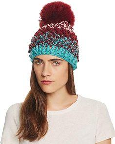 MA ONLINE Unisex Unicorn Hat with Faux Fur Rainbow Pompom Adults Winter Wear Fancy Hat