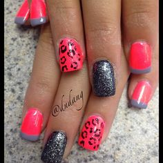 Now these are some pretty cool nails💎 Nails Opi, Get Nails, Fancy Nails, Love Nails, Pink Nails, How To Do Nails, Pretty Nails, Hair And Nails, Fingernail Designs